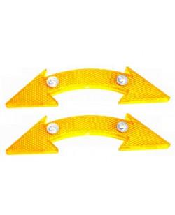 Катафоты велосипедные DN-130 2 шт, оранжевый (DN-130-yellow)