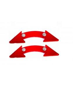 Катафоты велосипедные DN-130 2 шт, красный (DN-130-red)