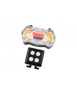 Фонарь задний BauTech KXK-03, аккум. стопы, повороты, лазер, USB (KXK-03)