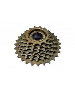 Трещотка 7 скоростей 14-28Т, коричневый (dn-97-7)