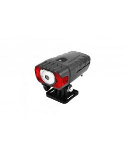 Фара передняя BauTech HJ-050-3W-XPG, датчик света, USB, черный (HJ-050-3W)