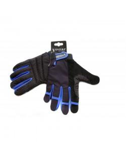 Велоперчатки Ventura Lycra Gel черный / синій (A-PZ-0160-blue)