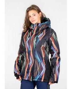 Куртка лыжная женская Just Play Ceno черный / разноцветный (B2331-black)