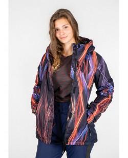 Куртка лыжная женская Just Play Ceno черный / разноцветный (B2331-red)