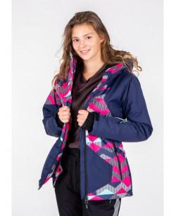 Куртка лыжная женская Just Play Raku синий / розовый (B2346-blue)