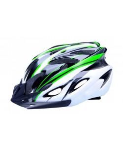 Шлем велосипедный Avanti AVH-001 черный / белый / зеленый (avh-001-green)