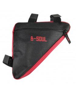 Сумка под раму угловая B-Soul черный-красный (bao-002red)