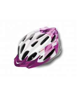 Шлем велосипедный B-Skin Regular фиолетовый / белый (KAS053)