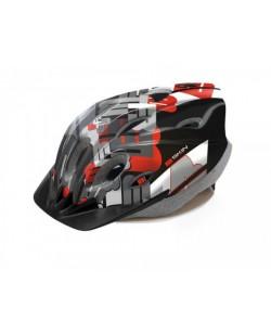 Шлем велосипедный B-Skin Tomcat, черный / красный (KAS043)