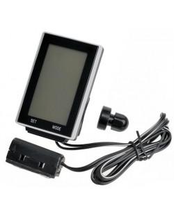 Велокомпьютер X-light 16 функций, проводной, черный (A-L-0084)