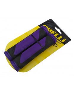 Грипсы Spelli SBG-692 черный / фиолетовый (SBG-692-purple)