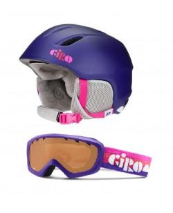 Горнолыжный шлем Giro Launch + маска Giro Chico фиолетовый (launch-purple)