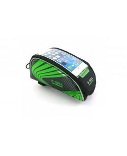 Сумка на раму B-Soul BAO-001, для смарфонов, черный / зеленый (bao-001green)