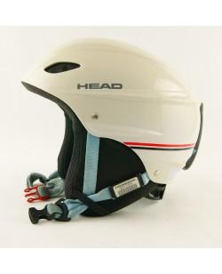 Горнолыжный шлем Head белый черно-красная линия глянец (H-022)