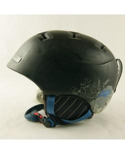 Горнолыжный шлем Julbo черный матовый в фиол.визерунок (H-066)