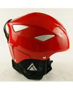 Гірськолижний шолом Lhoise червоний глянець (H-077)