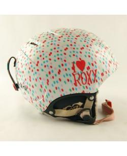 Горнолыжный шлем Roxy белый в узор (H-045)