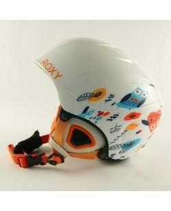 Горнолыжный шлем Roxy белый в узор (H-018)