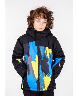 Куртка лыжная детская Just Play Zipp черный / синий (B3338-black)