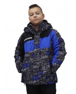 Куртка лыжная детская Just Play Hello черный / синий (B3350-blue)
