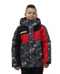Куртка лыжная детская Just Play Hello черный / красный (B3350-red)