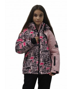 Куртка лыжная детская Just Play Letter розовый (B4330-pink)