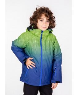 Куртка лыжная детская Just Play Rain синий / зеленый (B3348-green)