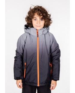Куртка лыжная детская Just Play Rain черный / серый (B3348-grey)