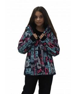 Куртка лыжная детская Just Play Rider черный / голубой (B4332-blue)