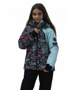 Куртка лыжная детская Just Play Letter голубой (B6005-lightblue)