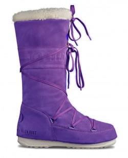 Зимние сапоги, мунбуты Tecnica Moon Boot Jacquard Mid фиолетовый (st-110)