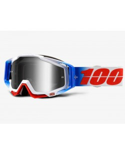 Маска мотокросова Racecraft 100% MX Goggle белый / синий (st-001)