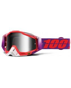 Маска мотокросова Racecraft 100% MX Goggle червоний / фіолетовий (st-002)