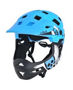 Шлем велосипедный ProX Cage, голубой / черный (A-KO-0150)