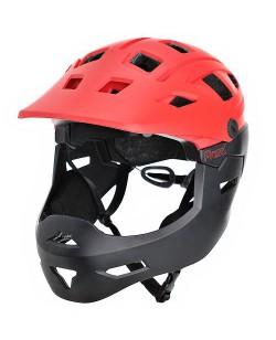Шлем велосипедный ProX Cage, красный / черный (А-КО-0149)